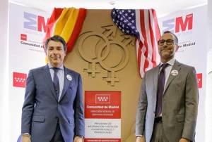 El Presidente de la Comunidad de Madrid Ignacio González y el Embajador de EEUU en España Jaime Costos.
